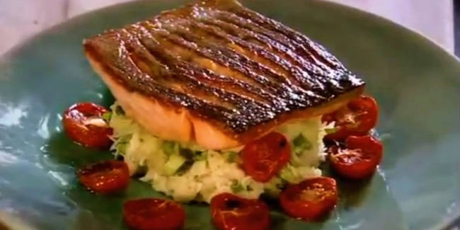 Recipe how to cook crispy salmon humans are not broken for How to cook fish eggs
