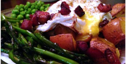 Dr. Oz Cholesterol Myth - Eggs, bacon and vegetables.