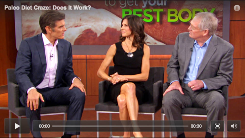 Dr. Loren Cordain and Nell Stephenson on the Dr. Oz Show