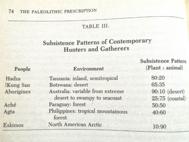 Subsistence Patterns of Contemporary Hunters and Gatherers